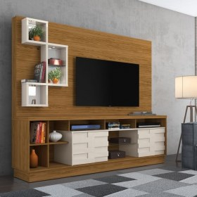 HOME THEATER HEITOR NATURALE/OFF WHITE