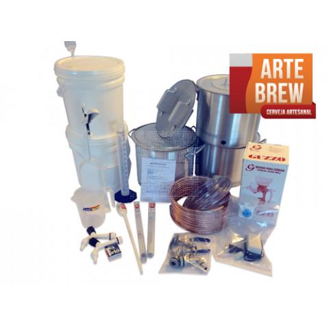 Kit Premium em Alumínio para 10 litros de cerveja