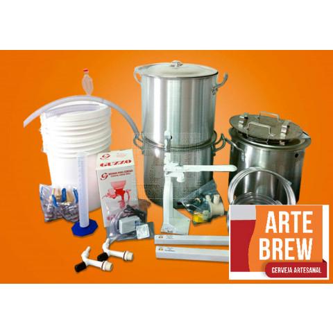 Kit Premium em Alumínio para 20 Litros de Cerveja - 220v - GRÁTIS UM CURSO BÁSICO