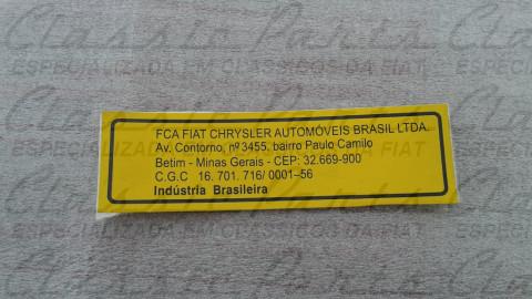 EMBLEMA ADESIVO FCA FIAT AUTOMOVEIS S/A ORIGINAL