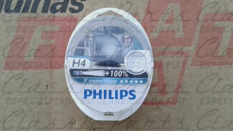 PAR LAMPADAS H4 PHILIPS X EXTREME VISION