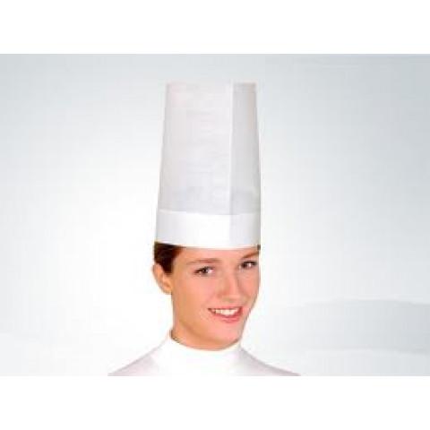 Chapéu cozinheiro descartável TNT Liso 29cm c/10un  - CHEF RESTAURANTE GASTRONOMIA COZINHA