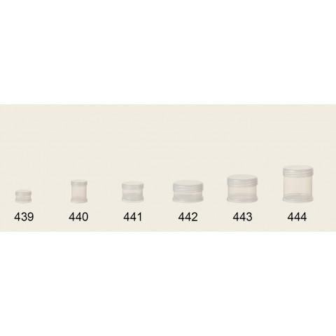 Pote Potinho para Cosmetico, Hidratante, Creme, Redondo, Transparente 5ml Ref.439 c/10un