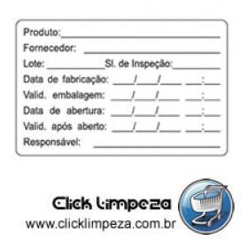 Etiqueta de Identificação (Rótulo B) - BG