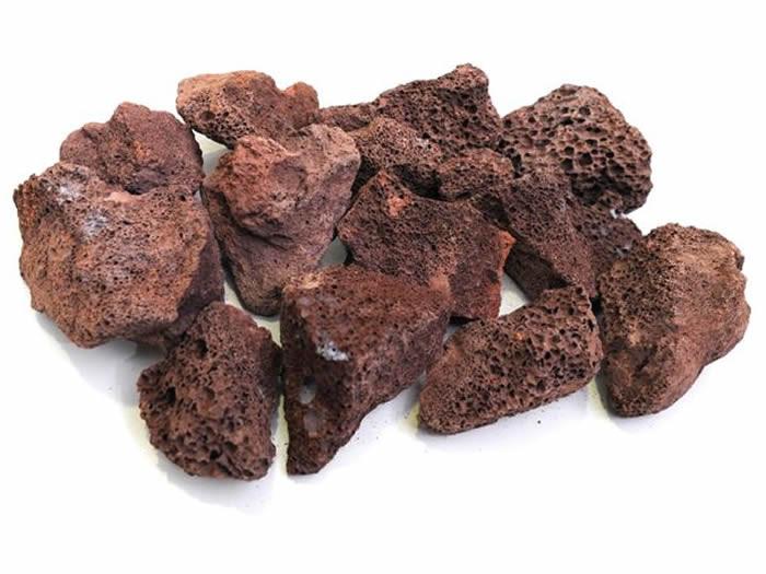 Pedra Vulcânica Marron Para Lareira Ou Churrasqueira Pacote 3kg