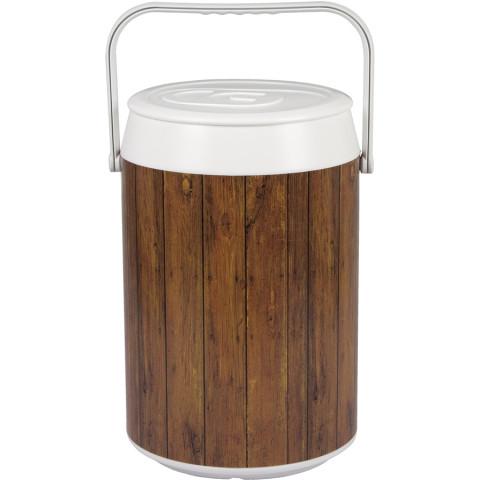 Cooler Com Estampa Madeira Rústica 42 Latas - Anabell