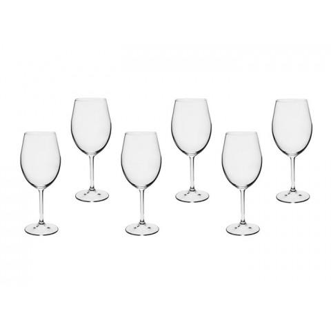Jogo de Taças para Vinho de Cristal Bohemia 350ml