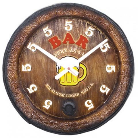 Relógio Decorativo Fundo De Barril Bar