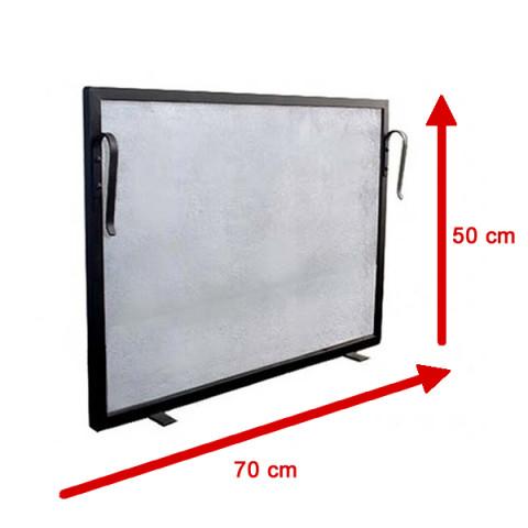 Tela Para Lareira Em Ferro - 70x50 Cm