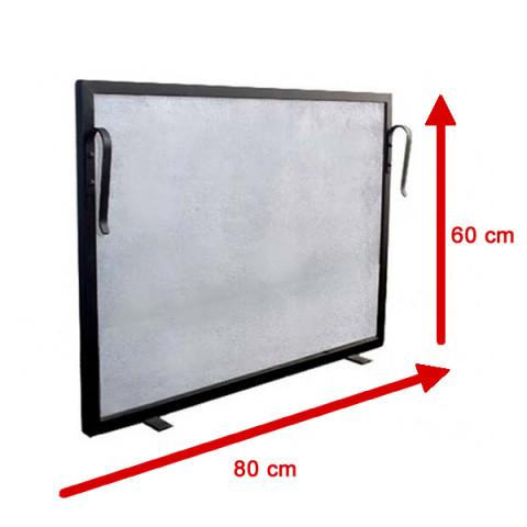 Tela Para Lareira Em Ferro - 80x60 Cm