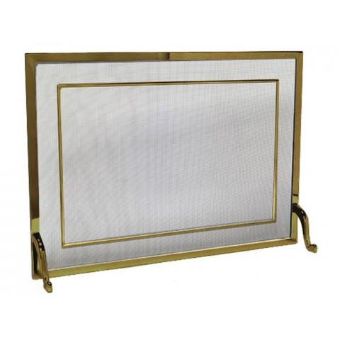 Tela Para Lareira Em Latão Oxidado - 80x60 Cm