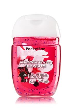Anti-Bacterial Pocketbac Sanitizing Hand Gel Bath & Body Works Japanese Cherry Blossom