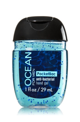 AntiBacterial Pocketbac Sanitizing Hand Gel Bath Body Works Ocean for Men