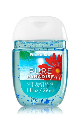 Anti-Bacterial Pocketbac Sanitizing Hand Gel Bath & Body Works Pure Paradise