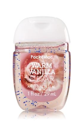 Anti-Bacterial PocketBac Sanitizing Hand Gel Bath & Body Works Warm Vanilla Sugar