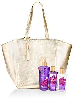 Bolsa Dourada Grande em couro Victoria's Secret (Não acompanha produtos)