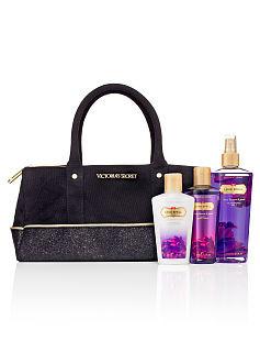 Bolsa Preta em Tecido com Brilho Victoria's Secret (Não acompanha produtos)