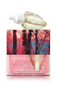 ESSÊNCIA Bath Body Works Wallflowers Bulb 2 Pack Refil Cranberry Woods