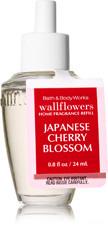 ESSÊNCIA Bath & Body Works Wallflowers Aromatizador de Ambiente Refil Japanese Cherry Blossom