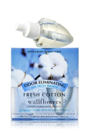 ESSÊNCIA Bath & Body Works Wallflowers Difusor Elétrico Aromatizador de Ambiente Bulb 2-Pack Refill Fresh Cotton
