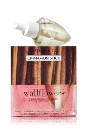 ESSÊNCIA Bath & Body Works Wallflowers Difusor Elétrico Aromatizador de Ambiente Refil Bulb 2-Pack Refill Cinnamon Stick