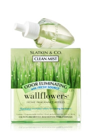 ESSÊNCIA Bath & Body Works Wallflowers Difusor Elétrico Aromatizador de Ambiente Refil Bulb 2-Pack Refill Odor Eliminating Clean Mist