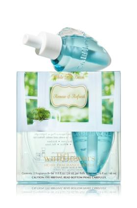 ESSÊNCIA Bath & Body Works Wallflowers Difusor Elétrico Aromatizador de Ambiente Refil Bulb 2-Pack Refill Renew & Refresh