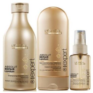 Loreal Professionnel Kit Shampoo+Condicionador e Sérum Absolut Repair Cortex Lipidium