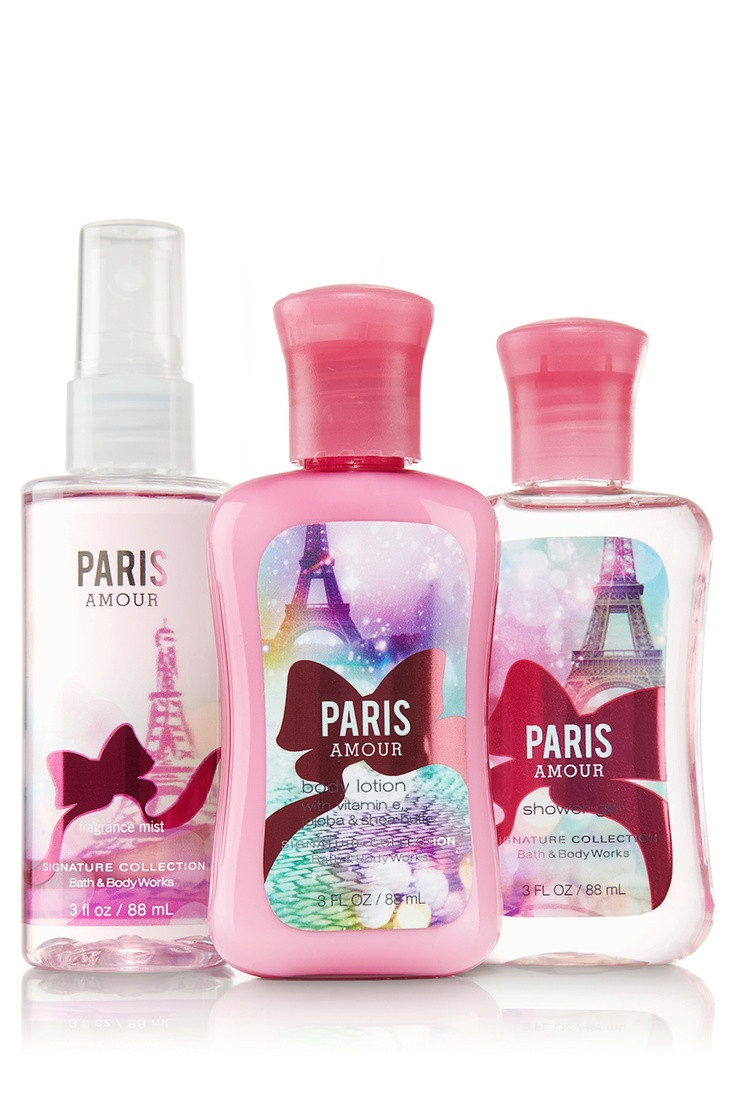 Paris Amour Travel Size Body Care Bundle 88ml Bath & Body Works