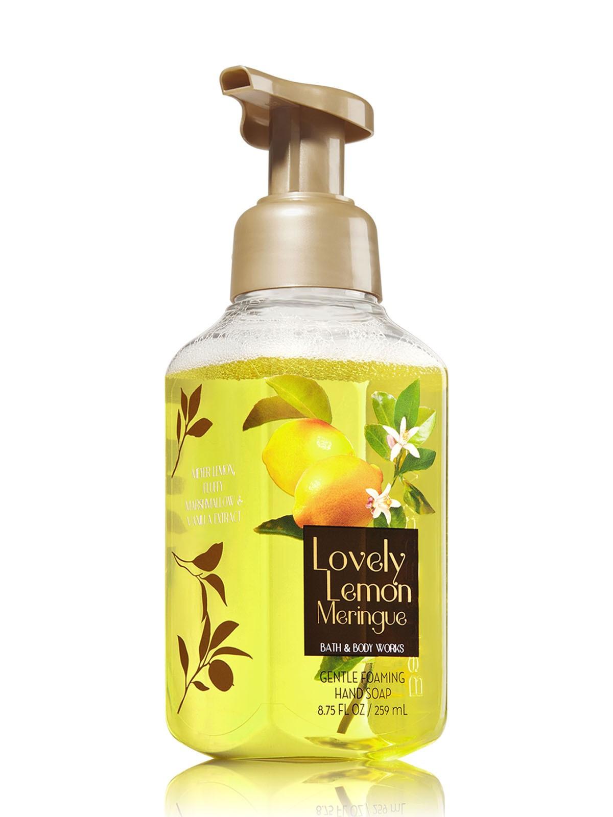 Sabonete Espuma de sabão Anti-Bacterial Gentle Foaming Hand Soap Bath & Body Works Lovely Lemon Meringue