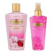 Strawberries & Champagne Kit 1 Hidratante + 1 Splash 250ml cada