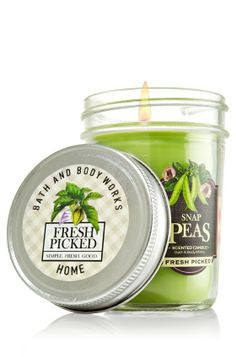 Vela Mason Jar Candle 170g Bath & Body Works Snap Peas