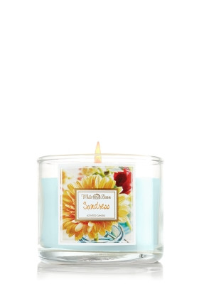 Vela Mini Candle 1.3 oz./36g White Barn Home Bath & Body Works Sundress