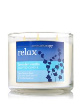 Vela White Barn 3-Wick 400g Candle Bath & Body Works Relax Lavender Vanilla