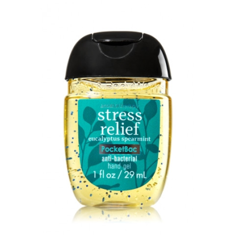 Anti-Bacterial Pocketbac Sanitizing Hand Gel Bath & Body Stress Relief - Eucalyptus Spearmint