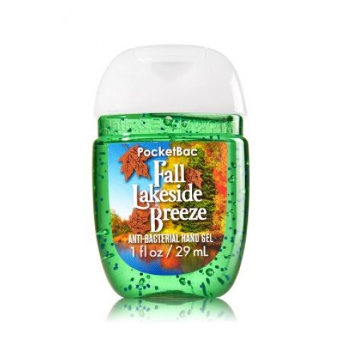 Anti-Bacterial Pocketbac Sanitizing Hand Gel Bath & Body Works Fall Lakeside Breeze