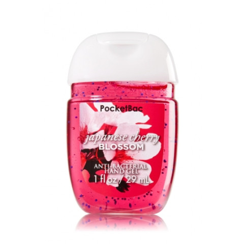 AntiBacterial Pocketbac Sanitizing Hand Gel Bath Body Works Japanese Cherry Blossom
