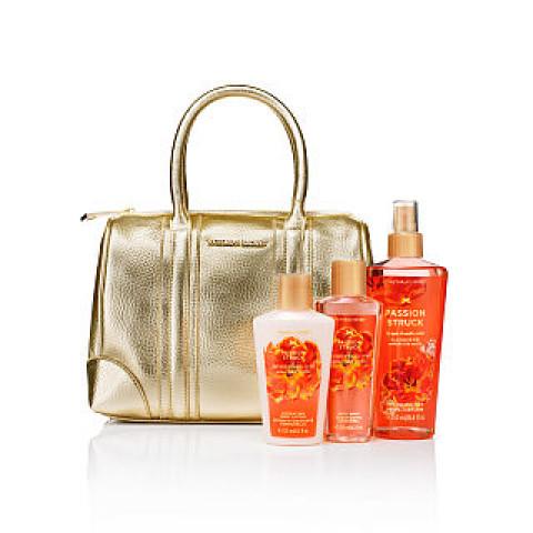 Bolsa Dourada Brilho Glamour em Couro Victoria's Secret (Não acompanha produtos)