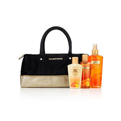Bolsa Preta Dourada em Tecido com Brilho Victoria's Secret (Não acompanha produtos)