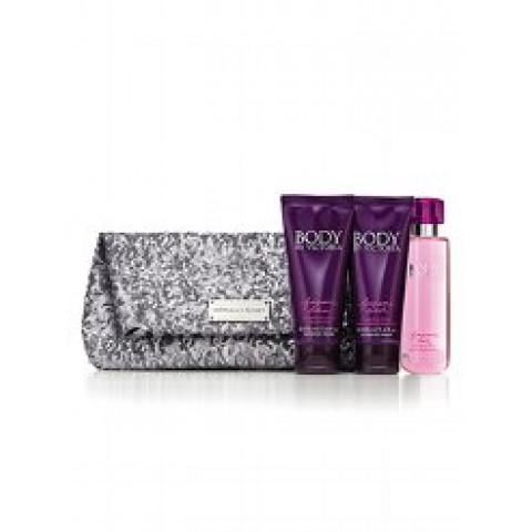 Clutch em Paetê Prateado Body by Victoria Victoria's Secret (Não acompanha produtos)