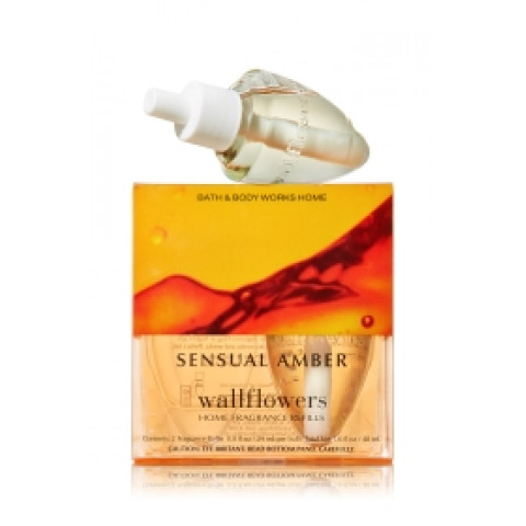 ESSÊNCIA Bath Body Works Wallflowers Bulb 2 Pack Refil Sensual Amber