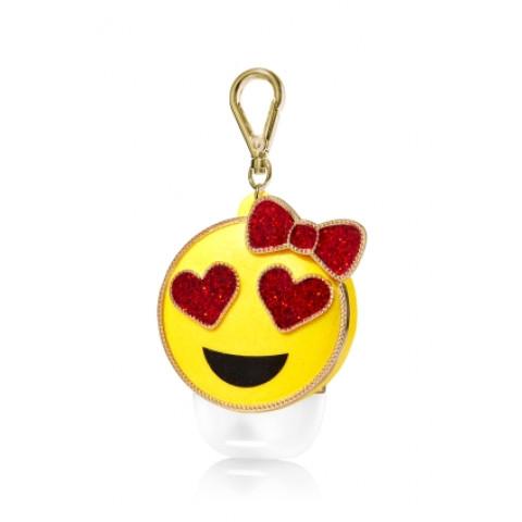 Suporte para Álcool Gel Bath & Body Works Accessories Pocketbac Holder Heart Eye Emoji