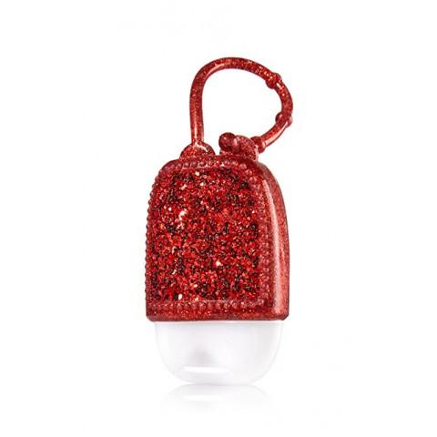 Suporte para Álcool Gel Bath & Body Works Accessories Pocketbac Holder Holder Red Glitter
