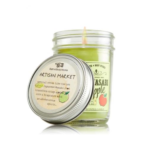 Vela Mason Jar Candle 170g Bath & Body Works Wasabi Apple