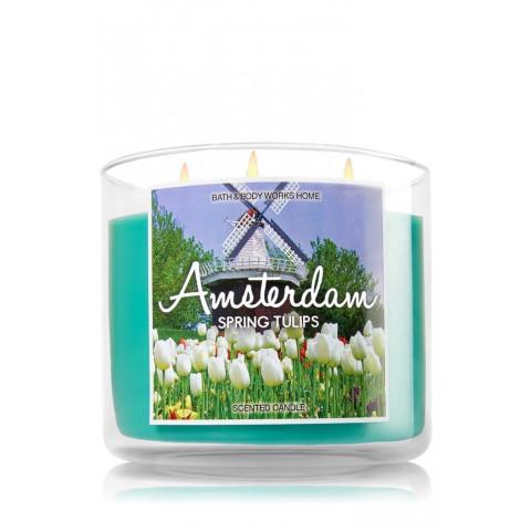 Vela White Barn 3 Wick Candle Bath Body Works Amsterdam Sring Tulips