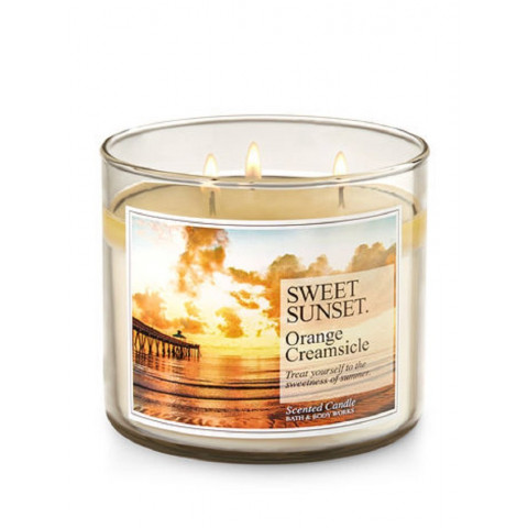 Vela White Barn 3-Wick 400g Candle Bath & Body Works Sweet Sunset Orange Creamsicle
