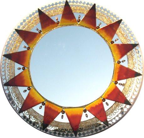 482 - Espelho  GG Sol dourado (50cm)