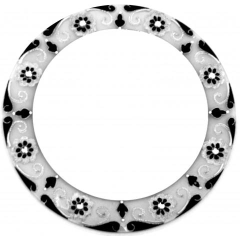 570-6  Espelho Fosco /preto -  (40 cm)