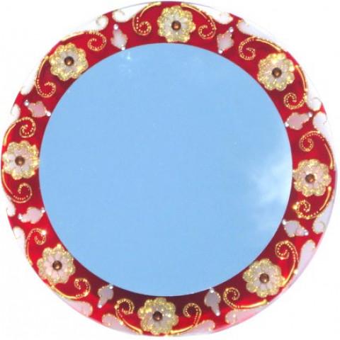570-7- Espelho Vermelho /Fosco- 40cm
