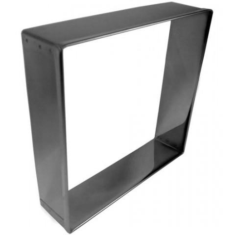 Aro cortador de bolo modelo QUADRADO MINI 10x4 cm (Inox)